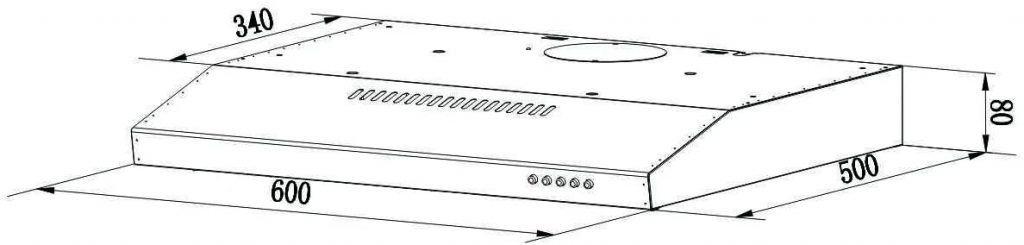 dimensiones campana extractora ciarra cbcs6903